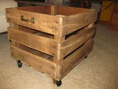 This vintage crate has casters and vintage handles added.  It will be for sale, along with many other vintage items, during my Sassafras Lane Yard Sale on August 4!