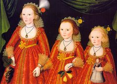 Three Young Girls, c.1620. By a follower of William Larkin