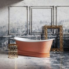 Charlotte Copper Rock Textured Freestanding Acrylic Bath Exclusive to Easy Bathrooms