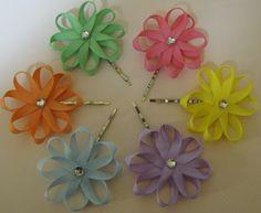 Six Daisy Hair Pins by sallegrezza on Etsy, $12.00