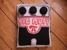 A Big Muff pedal pillow. Of course.