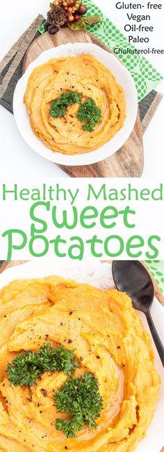 Healthy Mashed Sweet Potatoes Recipe | VeganFamilyRecipes.com