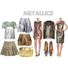 """Metallic trend"" by stylebugdaily on Polyvore"