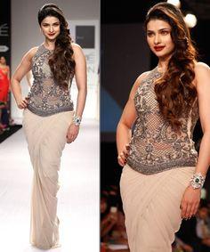 Sarees go bold and creative Lehenga Choli, Sarees, Prachi Desai, Tandoori Masala, Bollywood Actress Hot, Lakme Fashion Week, Shraddha Kapoor, Bridal Fashion, Long Dresses