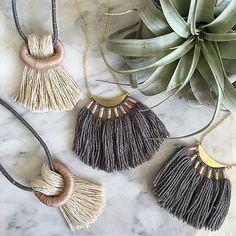 Wild Columbine - Nashville, TN - Unusual jewelry made here in Nashville. Unusual Jewelry, Tassel Necklace, Necklaces, Jewelry Making, Textiles, Creative, Instagram Posts, Handmade, Crafts