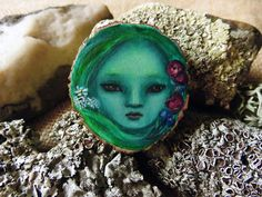 Spring Spirit brooch pendant or mini wall hanging Hand