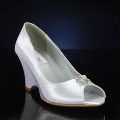 DYEABLES MINKA WHITE Wedding and Bridesmaids Shoes WHITE Bridal Shoes, IVORY Bridal Shoes