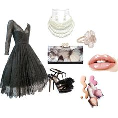 Black tie wedding guest, created by msgeegee on Polyvore