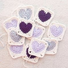 Granny Heart Square Ravelry: Granny Heart Square pattern by Kelsey Barros Crochet Afghans, Crochet Heart Blanket, Crochet Motif Patterns, Crochet Squares Afghan, Crochet Blocks, Crochet Stars, Crochet Cushions, Crochet Pillow, Afghan Patterns