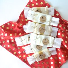Wrapped soap favors  Handmade vegan soap by prunellasoap