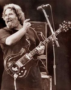 Jerry Garcia plays his famous Tiger guitar during an undated concert believed to be from the mid- to late-80s. Chronicle file photo.