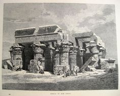 Antique Picturesque Egypt Egyptian Archaeology Nile Pyramid Art Arabian Islam | eBay Royal Garden, Antique Prints, Natural History, Archaeology, Old Photos, Egyptian, Temple, Antiques, Illustration