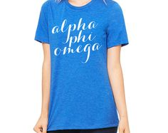 Script Tee // APO // Alpha Phi Omega Fraternity Tee // Choose Your TShirt Color!