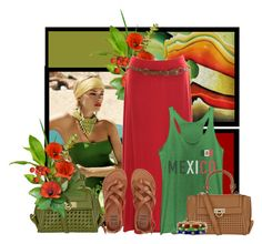 """""""Mexico"""" by tinkertot ❤ liked on Polyvore featuring NOVICA, Fifth Sun, Salvatore Ferragamo and Billabong"""