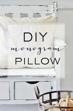 DIY Monogram Pillow - Thistlewood Farm
