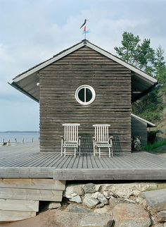 beachfront cabana with deck