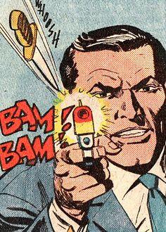 Bam Bam by peterpulp on DeviantArt Images Pop Art, Book Images, Comic Books Art, Comic Art, Book Art, Caricatures, Pop Art Vintage, Comic Manga, Modern Pop Art