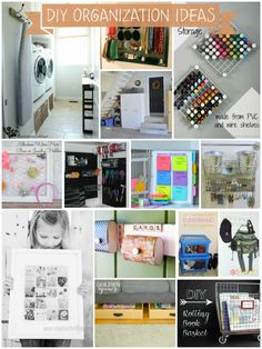 DIY Organization Ideas - So many great ideas here.