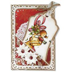 Pachela Studios Digi Stamp - Toby Tumble Christmas Bells < Craft Shop | Cuddly Buddly Crafts