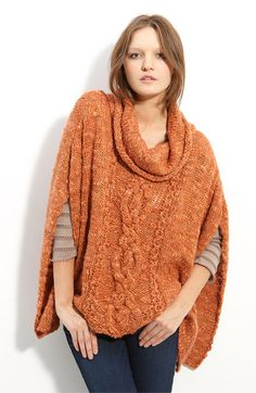 As impractical as I've found knit ponchos are due to the window of about three weeks you can wear them...I still want this.