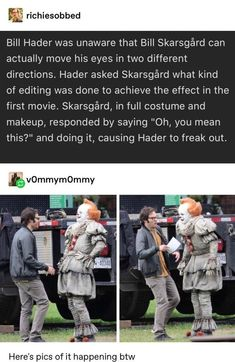 Picture memes 1 comment iFunny Picture memes 1 comment iFunny JimJimsJams funny Bill Hader was unaware that Bill Skarsg rd can actually move nbsp hellip Funny Quotes, Funny Memes, Jokes, Comedy Quotes, Stupid Funny, Hilarious, Funny Stuff, Nerd Stuff, Funny Things