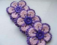 Crochet Applique Cherry Blossom Spring Flowers by CraftsbySigita