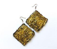 Orecchini pendenti - orecchini quadrati di carta - un prodotto unico di tizianat su DaWanda