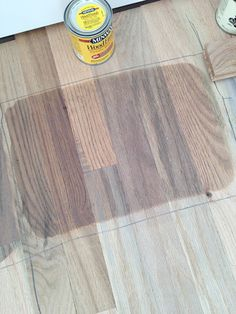 Weathered Oak stain is pretty but too red/brown. I want more of a gray.-- Mix 50/50 weathered oak and classic gray