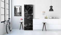Edler, schwarzer Marmor wertet jede Küche & jeden Kühlschrank auf | creatisto Gallery Wall, Amazon Fr, Frame, Design, Home Decor, Key Pouch, Sticker, Kitchens, Bedroom