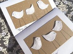Christmas Cards - Christmas Chick Cards - Glitter Christmas Cards - Set of Six Christmas Cards - Can be purchased as a single card - mc20. $15.00, via Etsy.
