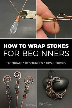 Wire Jewelry Making, Jewelry Making Tutorials, Wire Wrapped Jewelry, Wire Jewelry Designs, Handmade Wire Jewelry, Wire Crafts, Jewelry Crafts, Do It Yourself Jewelry, Wire Wrapping Crystals