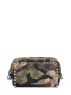 aa89def62db9 ROCKSTUD CAMOUFLAGE NYLON MAKE-UP BAG Valentino Bags