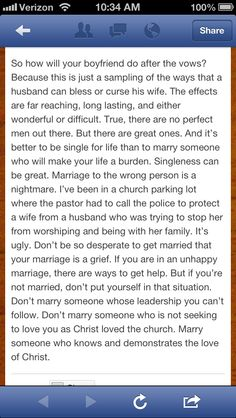 To all you single Christian ladies or you Christian ladies in a relationship with someone who is not following The Lord.