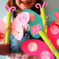DIY Schmetterling Geburtstagseinladung {butterfly birthday invitation}