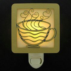 Nite light. Amazing that there is a coffee lover night light!
