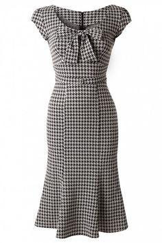 Houndstooth Wiggle Dress