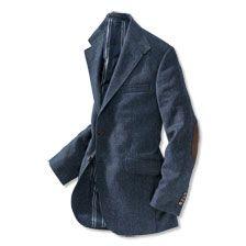Luxury Tweed - Sakko in Blau von Kinbury      bestellen - THE BRITISH SHOP - englische Herrenkleidung online günstig kaufen