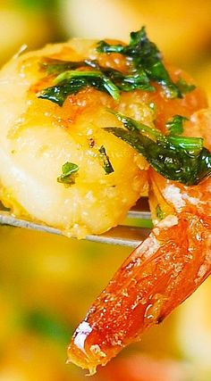 Cilantro-Lime Honey Garlic Shrimp.