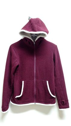 KUHL Alfpaca Shearling Fleece  Red  Full Zip Women's Size Smal #kuhl #FullZipJacket
