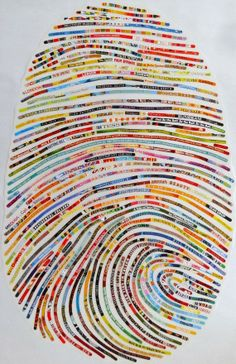 Papier in de herkansing: Collages, vingerafdruk Sheryl Sorg