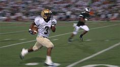 Bishop McDevitt RB Rashad Lawson sprints down the field Friday night (09/07/12)