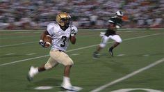 Bishop McDevitt RB Rashad Lawson sprints down the field Friday night (09/07/12)