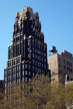 American Radiator Building New York 1924 Buildings Gothic Bryant
