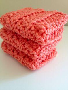 Salmon Coral Dishcloths / Washcloths nice color