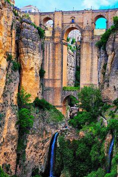 Ronda, Spain: The New Bridge (shot by MJS) via Flickr