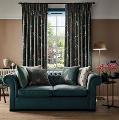 Chinoiserie is the European interpretation and imitation of Chinese and East Asian artistic traditions, especially in the decorative arts. Drapery Fabric, Curtains, Velvet Bedspread, Chinoiserie Chic, Geometric Designs, Bed Spreads, Art Decor, Home Decor, Love Seat
