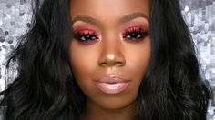 Sexy Red Eyeshadow & Nude Lip Tutorial Beginner Friendly WOC Red Lip Makeup Look Black Women Beginner eyeshadow Friendly lip nude Red sexy Tutorial WOC Red Lip Makeup, Dark Skin Makeup, Natural Eye Makeup, Smokey Eye Makeup, Prom Makeup, Makeup Eyeshadow, Lip Tutorial, Lip Makeup Tutorial, Red Eyeshadow Look