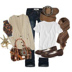 Brown, Tan & White
