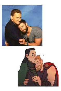 Chris Hemswirtg - Thor & Tom Hiddleston - Loki