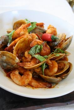 Spicy Clams and Shrimp
